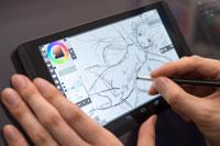 refeia氏イラストレーターのrefeia氏がSHIELDタブレット上でLayerPaint HDで描いたものです。