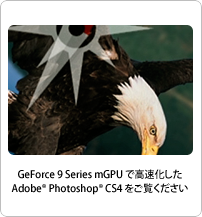 GeForce 9 Series mGPUs accelerate Adobe Photoshop CS4